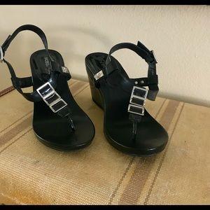 BCBG wedge sandals